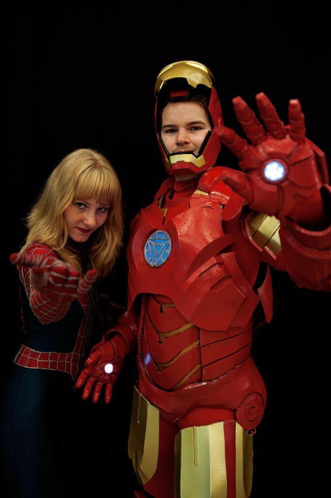 Comic con - Spiderwoman - Ironman